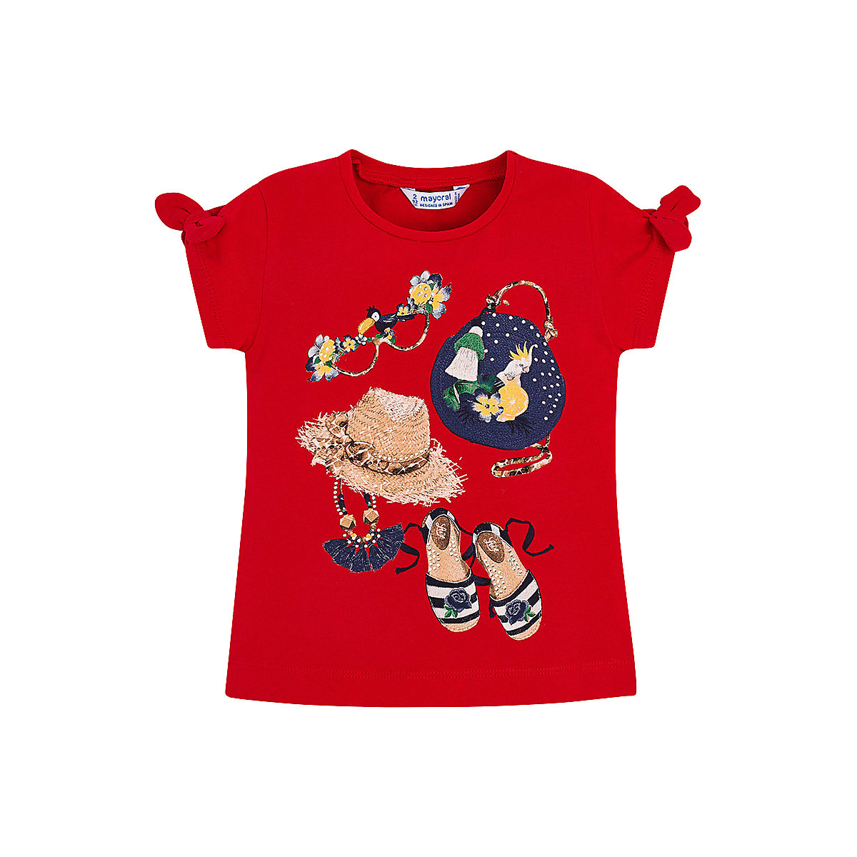 Фото - T-Shirts MAYORAL 10678531 Children sClothing T-shirt with short sleeves polo shirt for boys and girls stylish scoop neck long sleeves geometric printed irregular hem t shirt for women