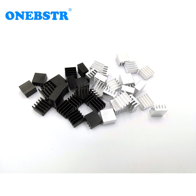 20Pcs/lot Aluminum Routing 8.8X8.8X5mm Heatsink Electronic Chip Cooling Radiator for A4988 Chip set Hot sale Free shipping 2