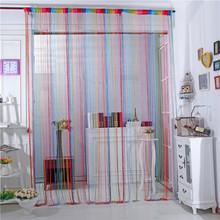 Good Quality Multi Color String Curtains Home Decor Door Window Curtain Colorful