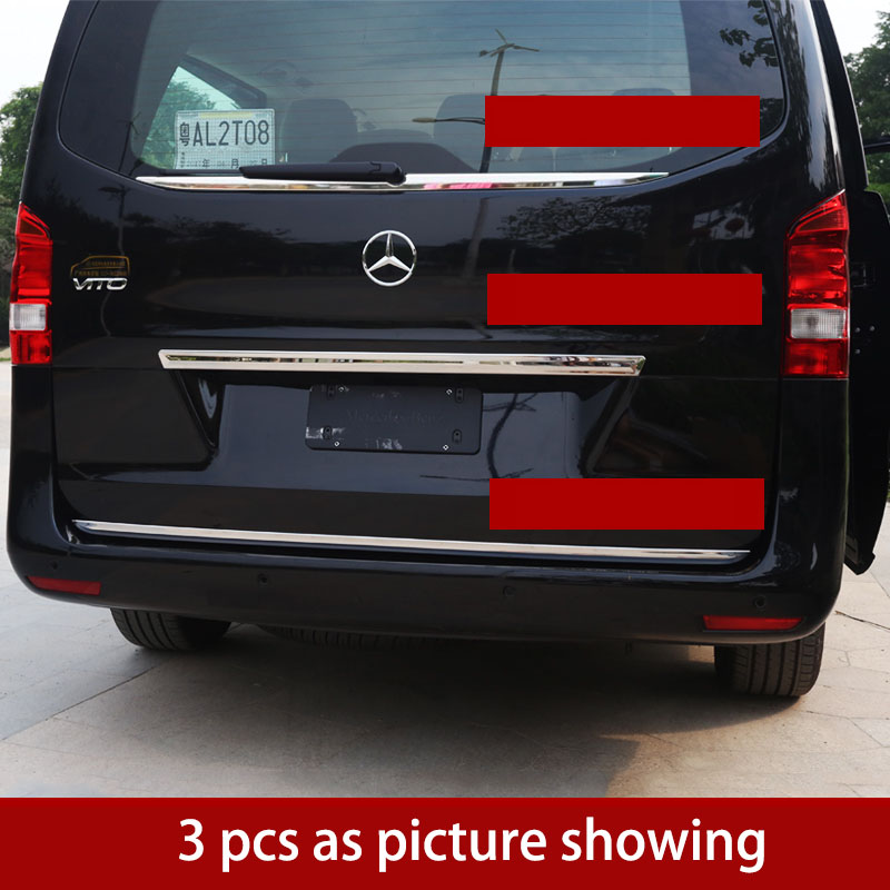 lsrtw2017 stainless steel car tail door trims for mercedes benz vito 2014 2015 2016 2017 2018 2019 w447