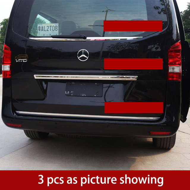 Lsrtw2017 Stainless Steel Car Tail Door Trims For Mercedes Benz Vito