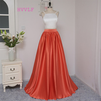 HVVLF 2019 Formal Celebrity Dresses A line Spaghetti Straps Two Pieces White Red Two Pieces Famous Red Carpet Dresses