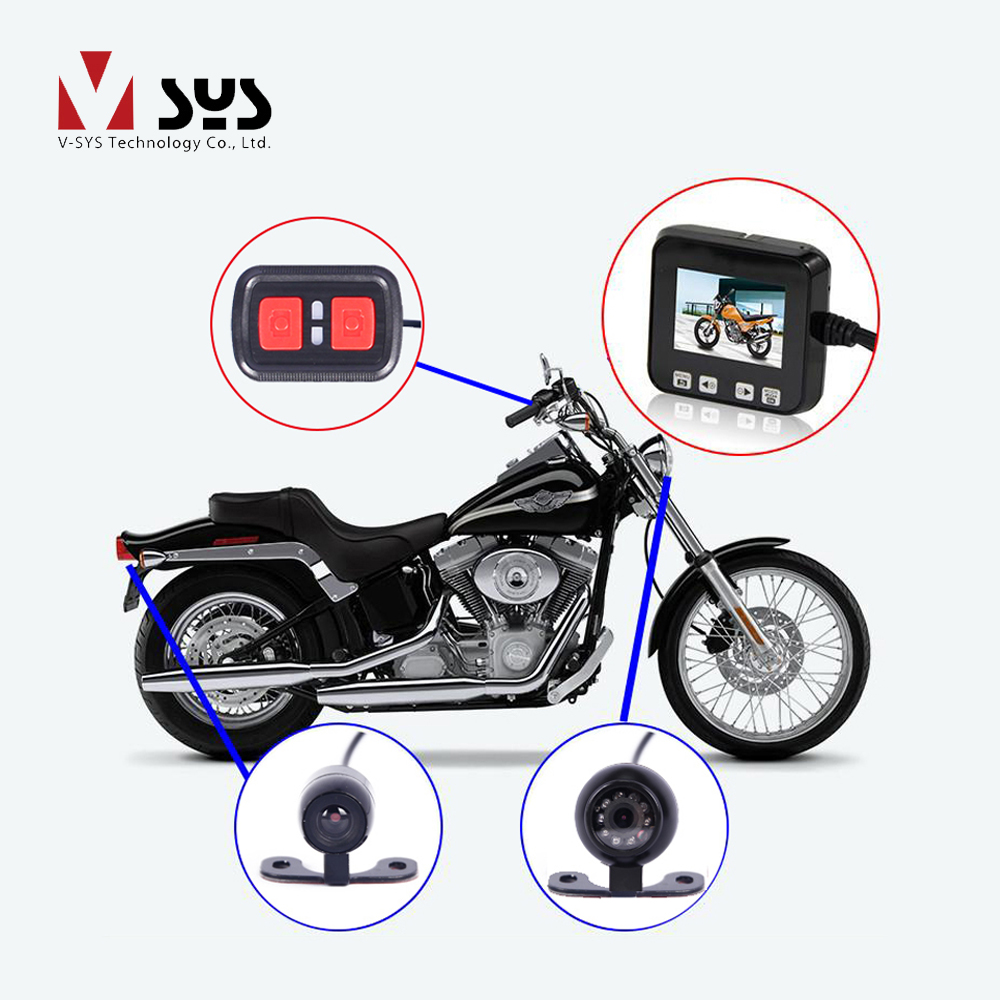 VSYS C6 Dual Waterproof Front & Rear Action Sport Bike Camera Recorder Motorcycle DVR Dash Cam System, G-sensor GPS Support vsys motorcycle dvr 3 0 x2 upgrade m2f wifi real fhd dual 1080p motorcycle camera dash cam front