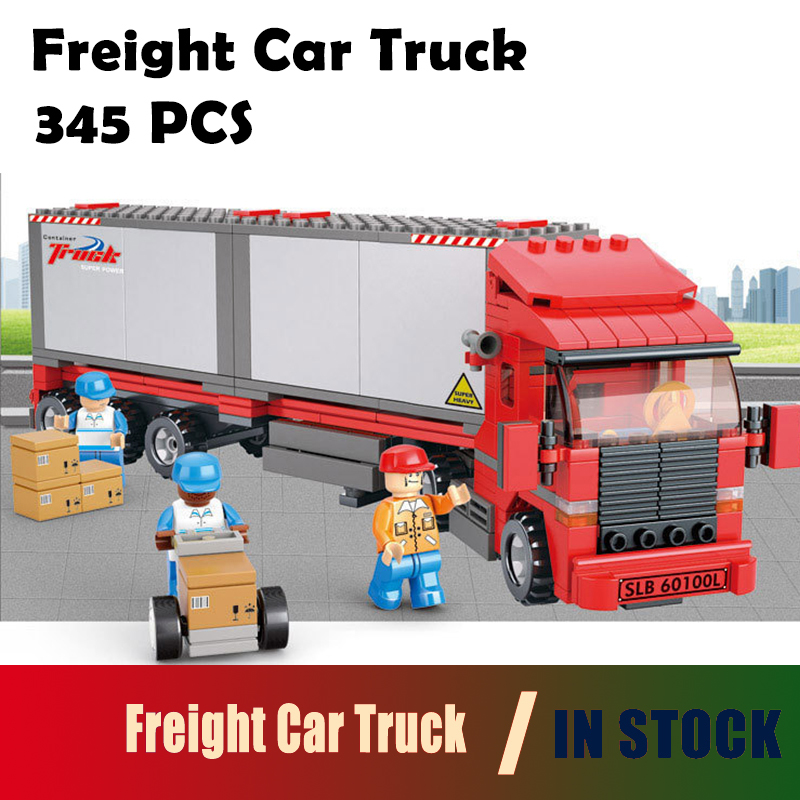compatible with lego city Model building kits truck 0338 3D blocks Educational model & building toys hobbies for children