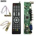 Free Shipping V56 Universal LCD TV Controller Driver Board PC/VGA/HDMI/USB Interface7 Key Board 1 Lamp Inverter  560161