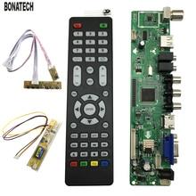 Бесплатная доставка V56 Универсальный ЖК-ТЕЛЕВИЗОР Доска Драйвер Контроллера PC/VGA/HDMI/USB Интерфейс + 7 ключ доска + 1 лампы инвертор