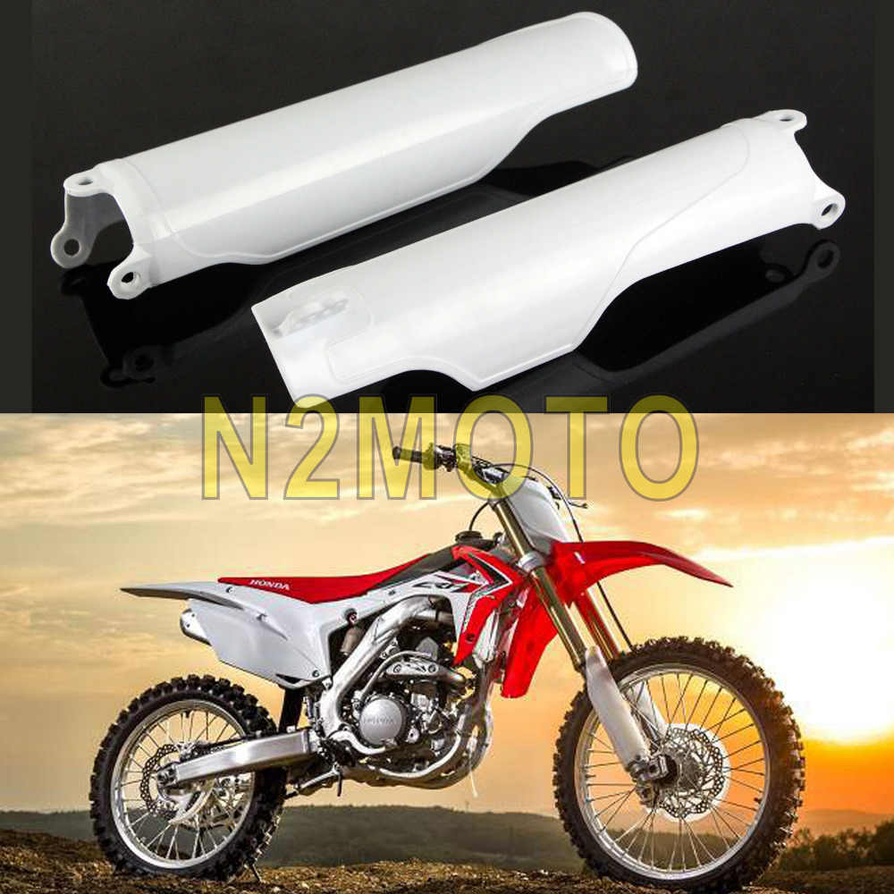 Outstanding White Plastic Fork Protection Guard For Honda Cr125R Cr250R Gmtry Best Dining Table And Chair Ideas Images Gmtryco
