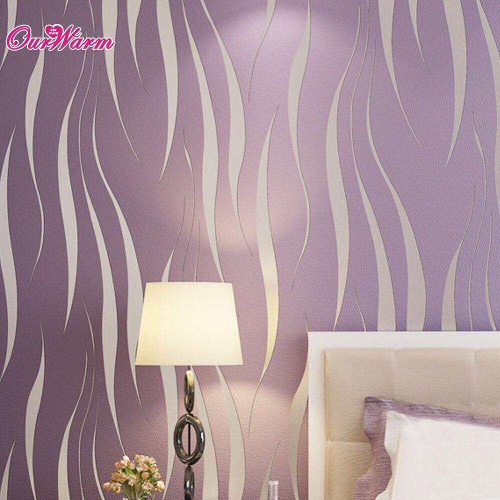 Online kopen wholesale paars slaapkamer behang uit china paars ...