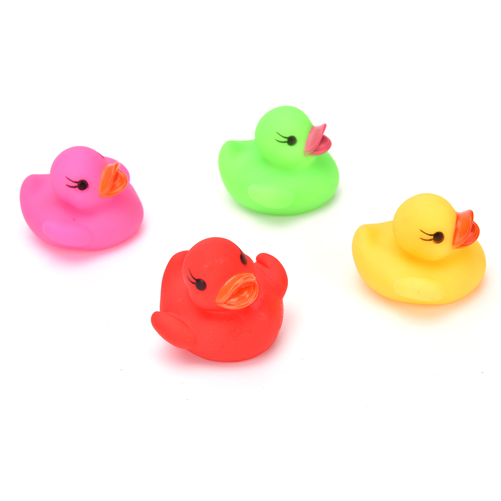 Animals Colorful Classic Rubber Duck Soft Rubber Float Squeeze Sound ...