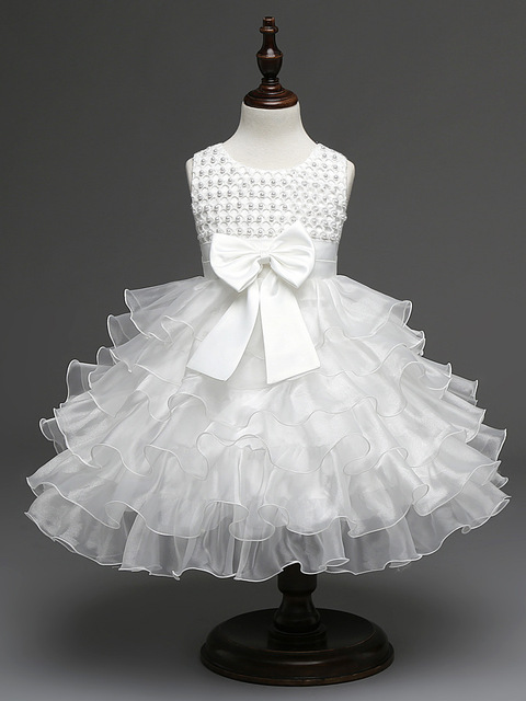 baby white dress for baptism sweet beaded layered baby girl christening gowns