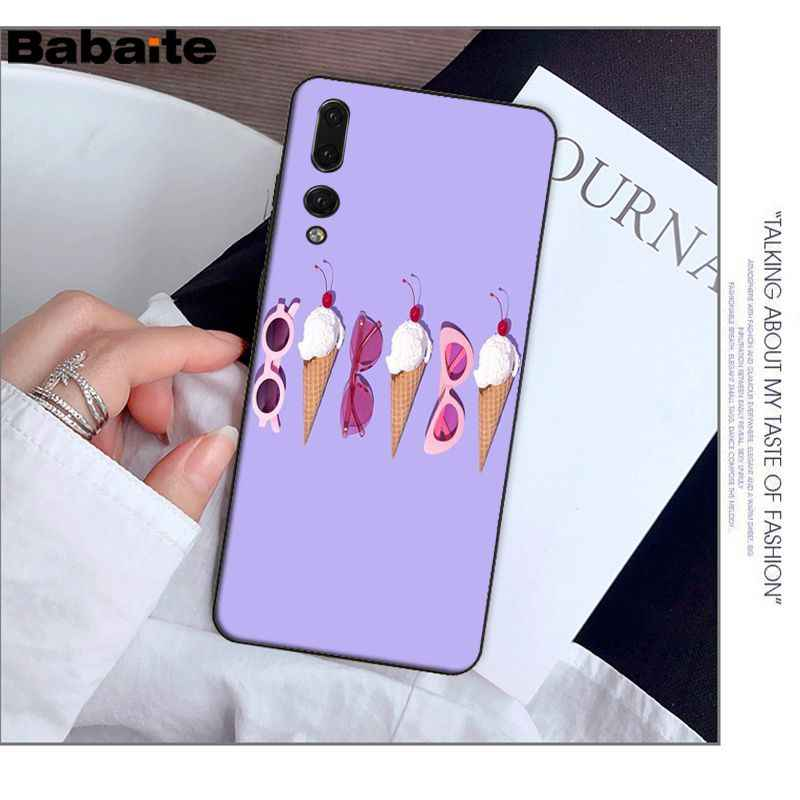 Babaite סוכריות צבעים קרח קרם פרח פיצה אדמונית רך סיליקון טלפון כיסוי עבור Huawei Mate10 לייט P20 פרו P9 P10 בתוספת צפה 10
