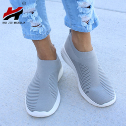 NAN JIU MOUNTAIN Shoes Woman Zapatos De Mujer 2018 Socks Shoes Stretch Cloth Casual Sports Shoes Sneakers Plus Size 35-43