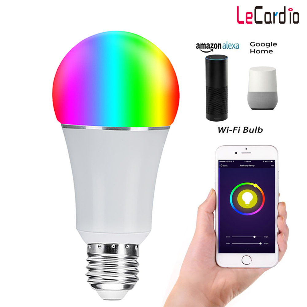 Back To Search Resultslights & Lighting Aspiring E27 E26 Smart Wifi Bulb 7w Multi-color Stage Wifi Lamp Compatible With Alexa Google Home Assistant Phone Wake Up Light Timer Good For Antipyretic And Throat Soother