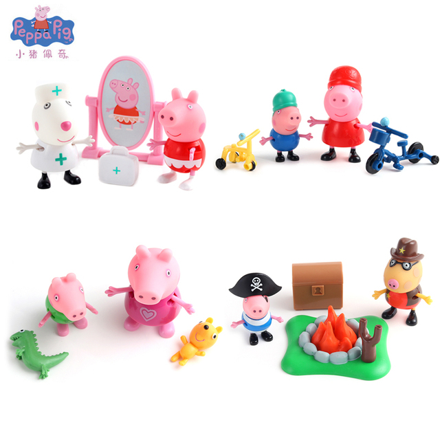 Peppa Pig Love Learning Classroom Scene Action Figures Toy Peppa