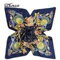 2017 lenço de seda das senhoras foulard Feminino cetim Pequeno Lenço De Seda quadrado Mulheres Moda Estilo cachecol Marca De Luxo xale pescoço z42