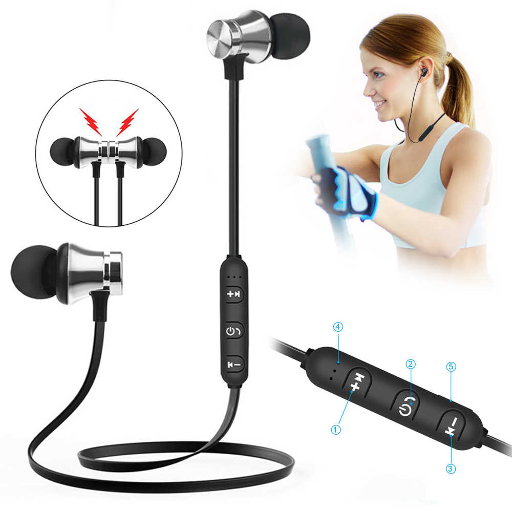 S8 bezprzewodowy magnetyczny bezprzewodowe słuchawki Bluetooth XT 11 stereofoniczny zestaw słuchawkowy ze wzmocnieniem basów sportowe do biegania słuchawki douszne odporny na pot słuchawki z mikrofonem