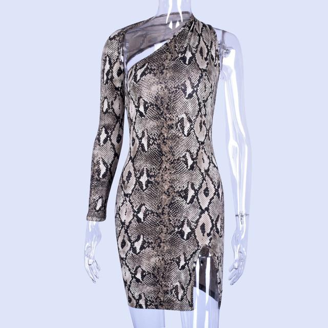 Snakeskin elegant mini dress