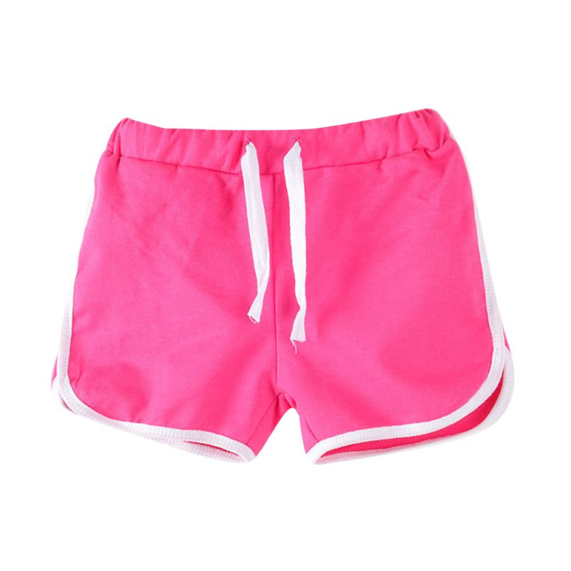 Baby Kids Summer Cotton Shorts Girl's Regular Casual Beach Short Trousers Candy Color