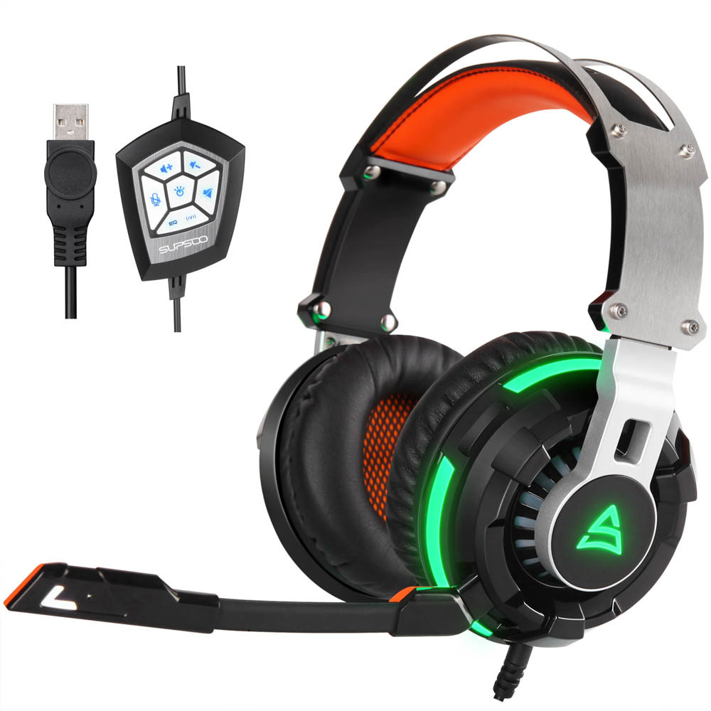 gaming headset true earphones with microphone active noise cancelling Stereo Surround Gaming Headset Headband MicHeadphone