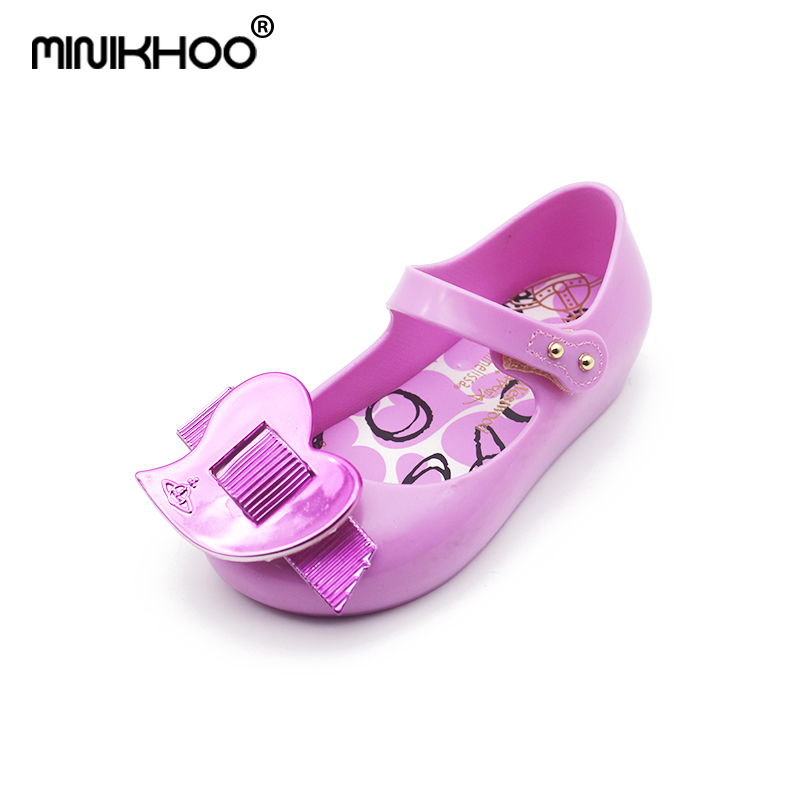Mini Melissa Original Brand Jelly Sandals Love 2018 New Girls Beach Jelly Sandals Mini Melissa Toddler Shoes Non-slip 15cm-18cm