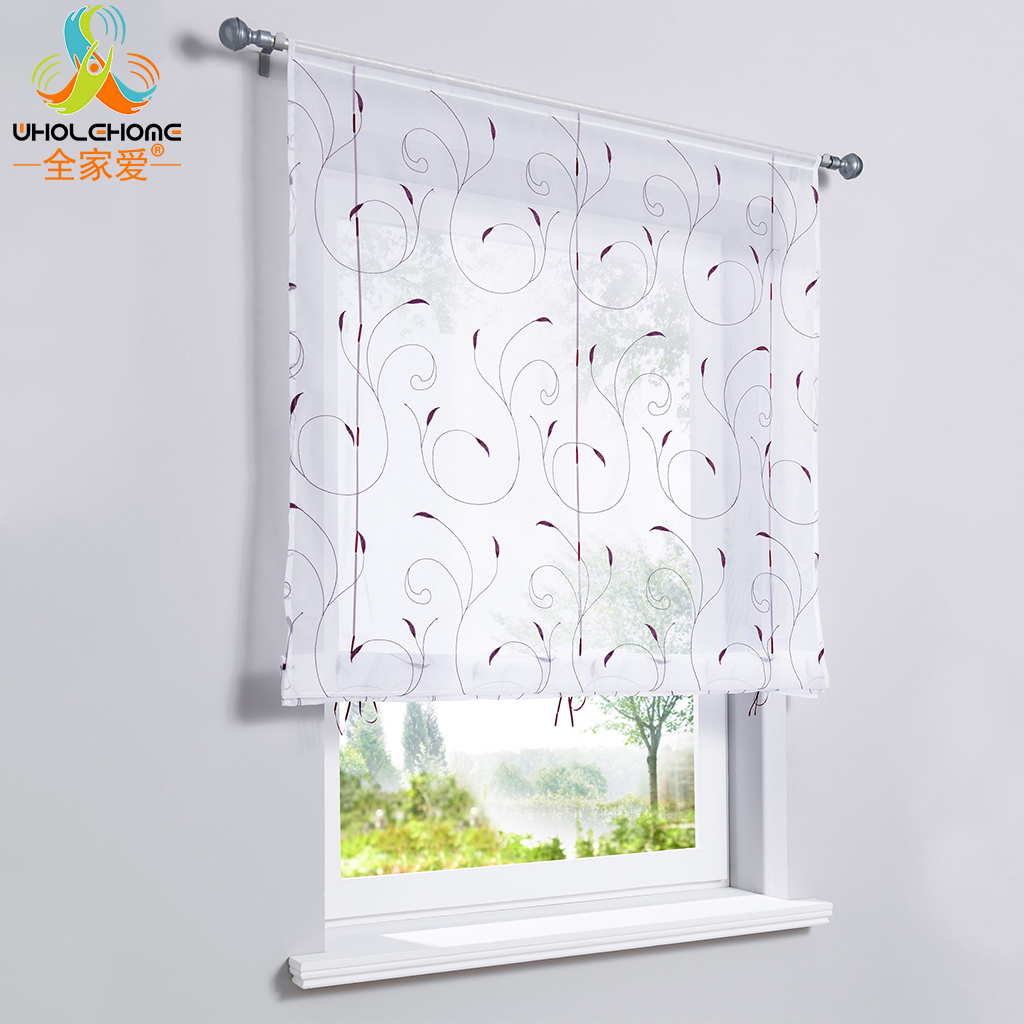 Us 7 97 Window Treatment Polyester Fabric Tube Curtain Balloon Roman Curtain Embroidered Decoration Living Room 5 Sizes 2 Colors 1 Pcs In Curtains