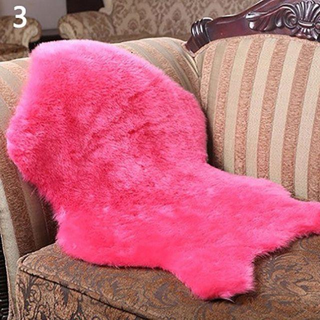 Faux suave anti-slip almofada de cadeira capa sofá tapete de pele de carneiro tapete carpet uso doméstico decoração da sua casa