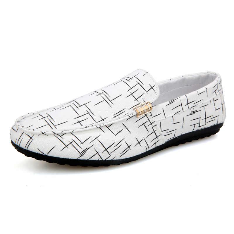 Mannen Loafers Mannen Schoenen Casual Schoenen Mannen Trainers 2019 Lente Zomer Licht Canvas Jeugd Schoenen Mannen Ademend Mode Platte Schoenen