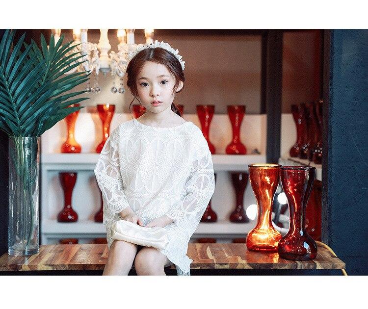 7beb5d79caff4 ... lace teenage baby girls dress summer cotton 2017 knee length white  princess girls summer dresses girls