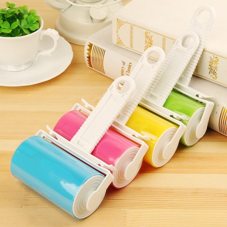 2pcs Reusable Washable Lint Roller Sticky Silicone Dust Pet Dog Cat Hair Remover Cleaner Cleaning Brush for Cloth Furniture