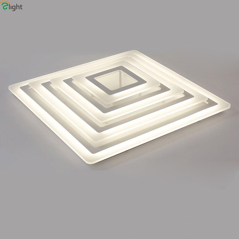 Modern Simple Square Dimmable Led Ceiling Lights Lustre Acrylic Metal Bedroom Led Ceiling Light Dining Room Celing Lighting Lamp цена 2017