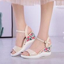 Sandales gladiateur à plateforme, chaussures à bout ouvert