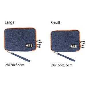 Двойной Слои кабель цифровой сумка для хранения электронных Организатор Портативный дорожная сумка для USB наушники устройства