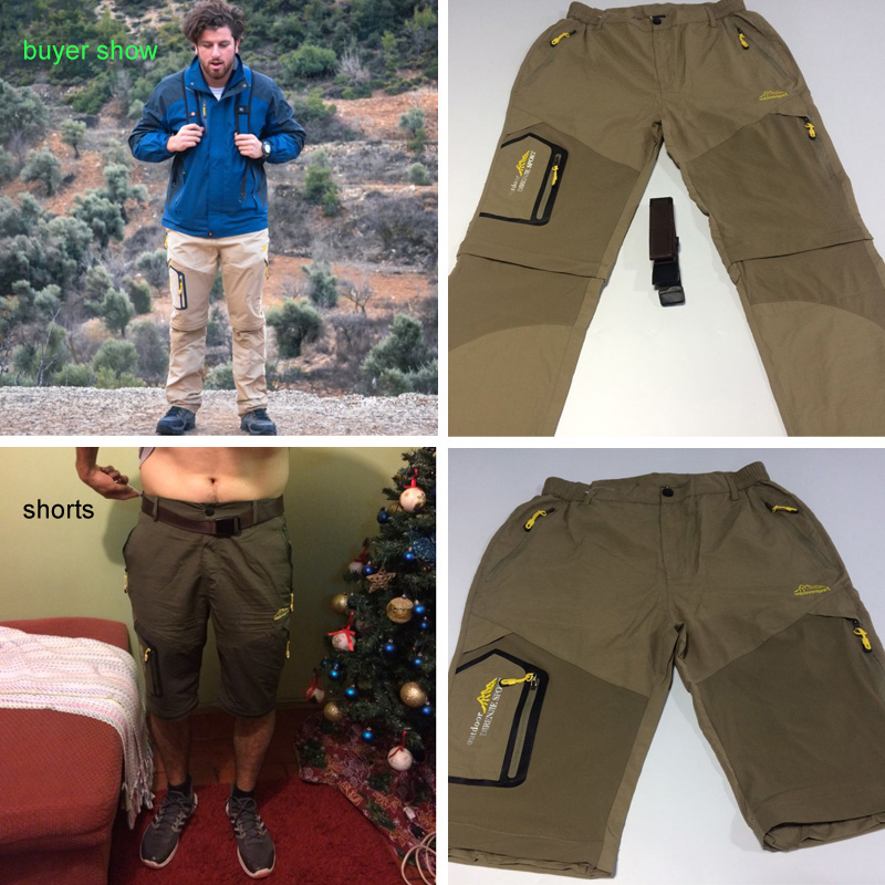 Image 2 - LoClimb Men's Summer Removable Hiking Pants Outdoor Camping Trip Trousers Man Trekking Pants Khaki Mountain Sports Shorts AM002-in Hiking Pants from Sports & Entertainment