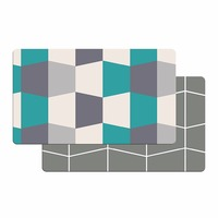 Premium Reversible Cushion Kitchen Mat Anti Fatigue Kitchen Comfort Mat Standing Floor Anti slip Mat, 18 x 30 gray green