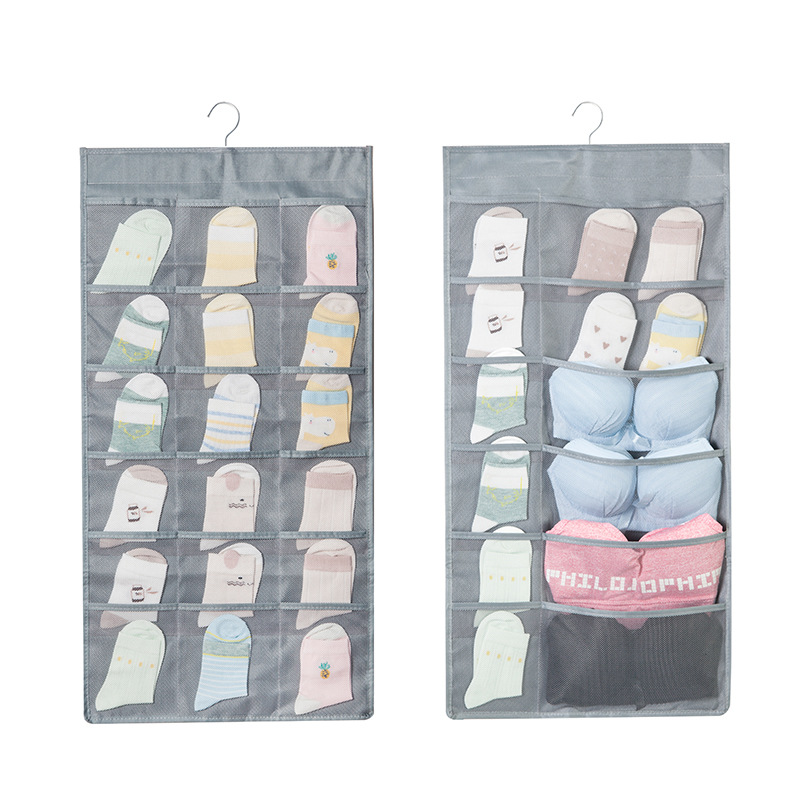 30 Pockets Non-Woven Fabric Hanging Bag Socks Bra Underwear Rack Hanger Wall Wardrobe Hang Storage Organizer Bag
