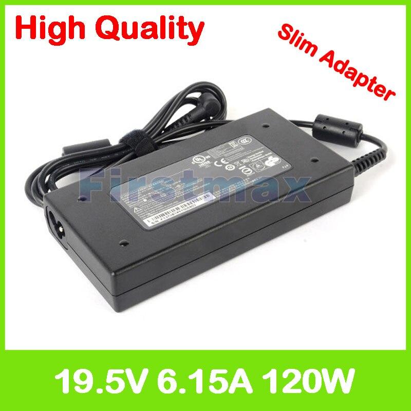 Mince 19.5 V 6.15A portable chargeur ac adaptateur pour MSI GP62 2QD 2QE 2QF 6QD 6QE 6QG GP72 2QE Léopard Pro MS-1793 GP72 6QE MS-1795