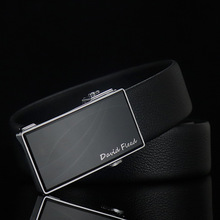 Mirror belt classic business first layer cowhide simple luxury brand mens quality high automatic