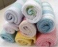8 pçs/lote Colorido Algodão Bebê Infantil Toalha Toalhinha Toalhas para Banho de Alimentação Pequeno Quadrado 21*21 cm