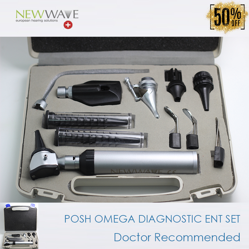 Free Shipping Professional NEWWAVE High Quality Ear Care Med Otoscope Diagnositc ENT Kit Set Hardcase red inlay professional medical diagnositc ent kit direct ear care otoscope and ophthalmoscope diagnosis set
