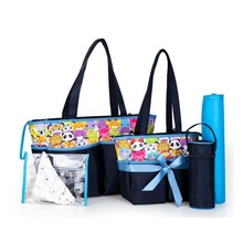 Colorland fashion baby care diaper bag maternal replacement multifunctional 5 piece set
