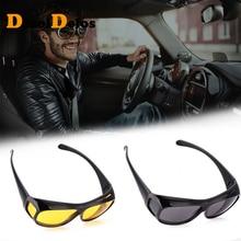 Night Vision Driver Goggles Unisex HD Vision Sun Glasses Car Driving Glasses UV Protection Polarized Sunglasses Eyewear G121 цена и фото