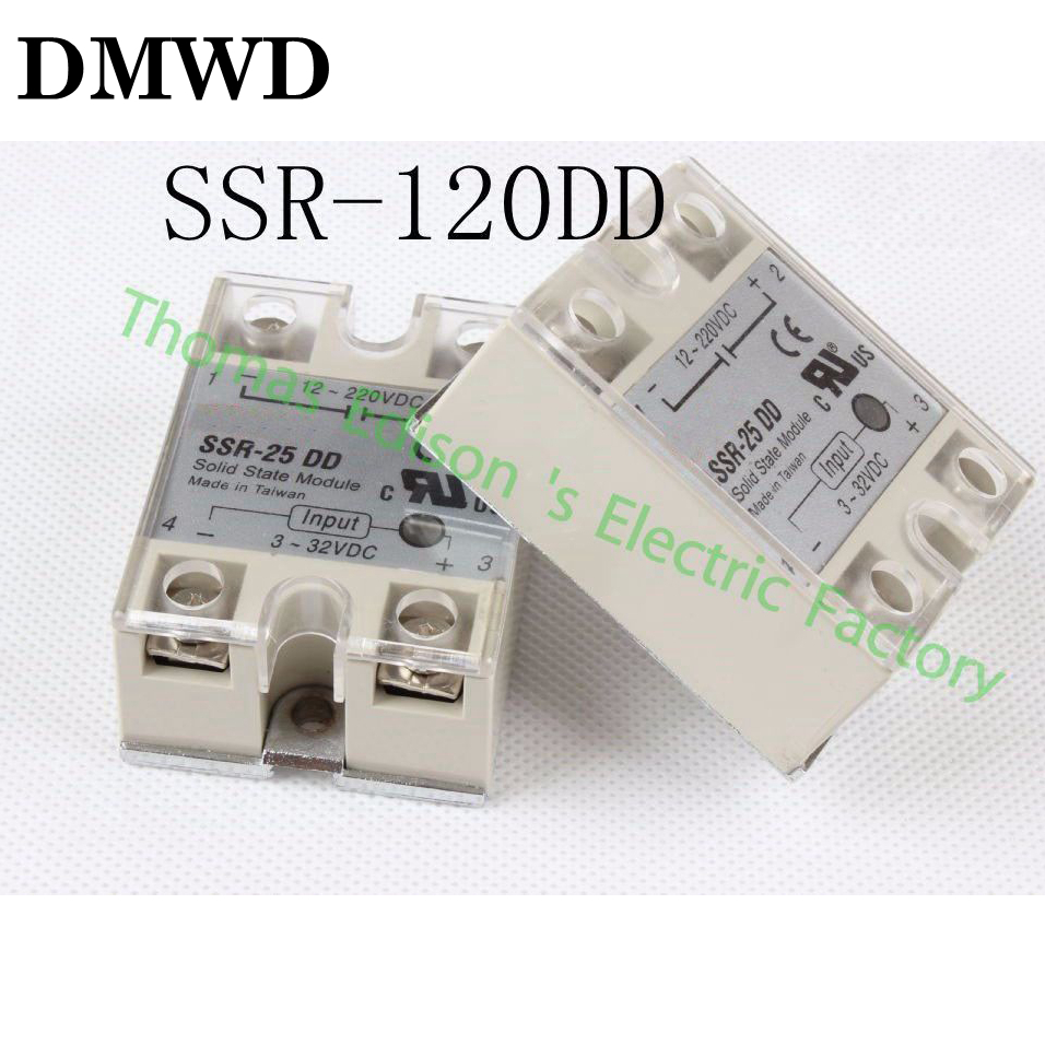 solid state relay SSR-120DD 25A 3-32 DC TO 5-60 DC SSR 120DD relay solid state dc-dc 5x new plastic metal solid state relay ssr dc dc 25a 3 32vdc 5 60vdc