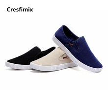 Cresfimix zapatos hombre male fashion spring & autumn slip on cotton cloth slip on shoes man's cool comfortable shoes a2761