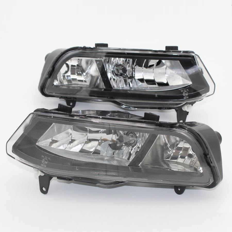 Car Light For VW Polo Vento Derby 2014 2015 2016 2017 Car-Styling Front Halogen Fog Light Fog Lamp Assembly Two Holes oem 1pcs original car front left fog light assembly suitable 3g0941661g f vw passat b8 2016 3g0 941 661 g