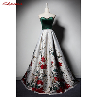 Floral Long Evening Dresses Party A Line Beaded Sweetheart Beautiful Women Prom Formal Evening Gowns Dresses Wear