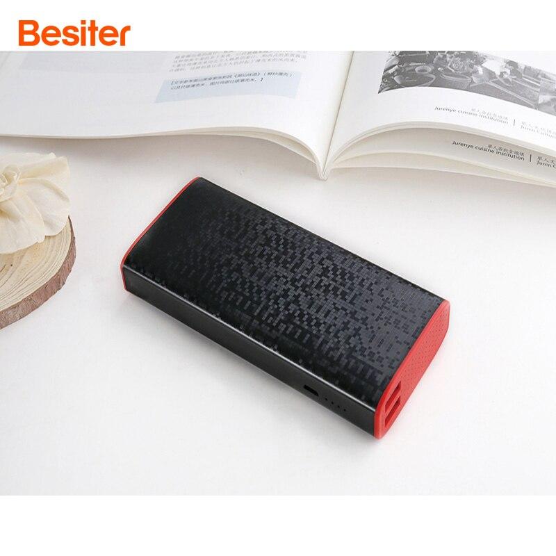 Besiter 18650 Puissance Banque 10000 mAh Pour Xiaomi Mi 2 USB PowerBank Portable Chargeur Externe Batterie Pour Oneplus 5 Téléphone PoverBank