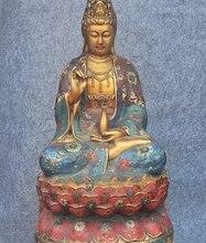 20 «Редкие Тибет Буддизм Храм Перегородчатые Свинка KwanYin Бодхисаттвы Гуаньинь Статуя