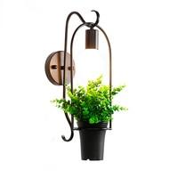 Black Vintage Loft Wall Lights For Dining Room Hallway Bedroom Reading Iron E27 Coffee Restaurant Flower Decoration Lamp Lampe