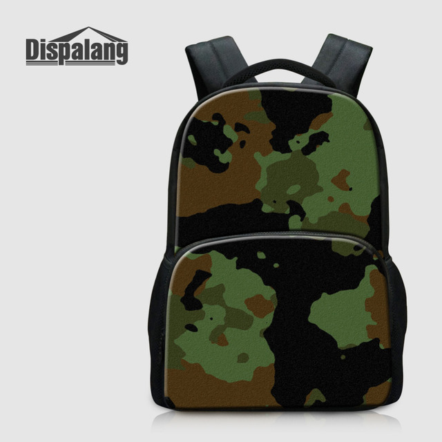 Dispalang Camo Print Backpack For Men Women Felt School Bag Age Cool Bookbag Vintage Laptop