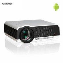 XUANERMEI Android 4.42 WiFi RJ45 LAN 5500 Люмен Ночь Проекторы главная Полный HD1080p LCD Видео ТВ Светодиодный Проектор DHL Бесплатно доставка